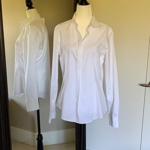 NEW Brooks Brothers tailored fit white dress shirt
